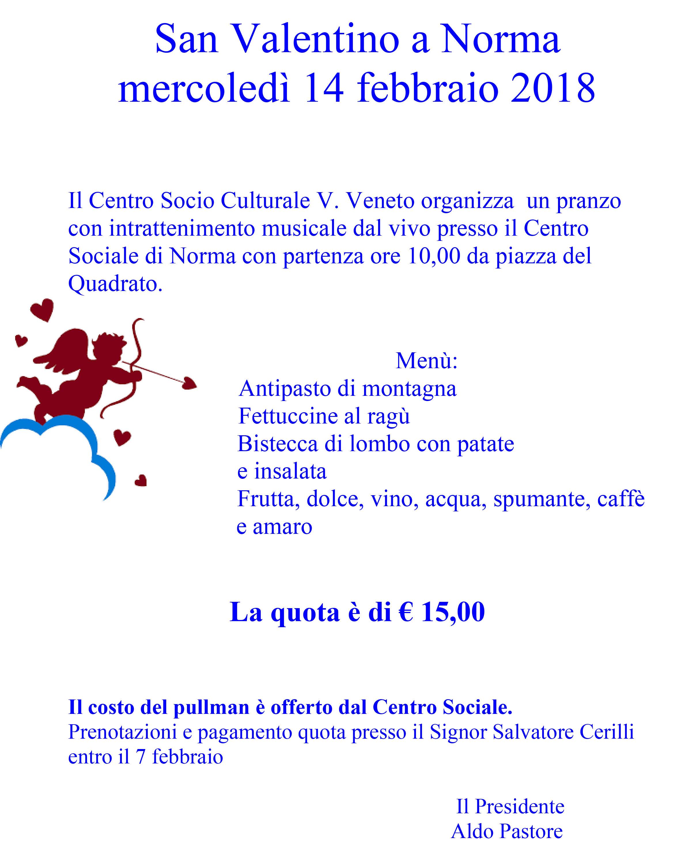 Microsoft Word - San Valentino a Norma mercoledì 14 febbraio 20